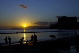 Sunset at Waikiki